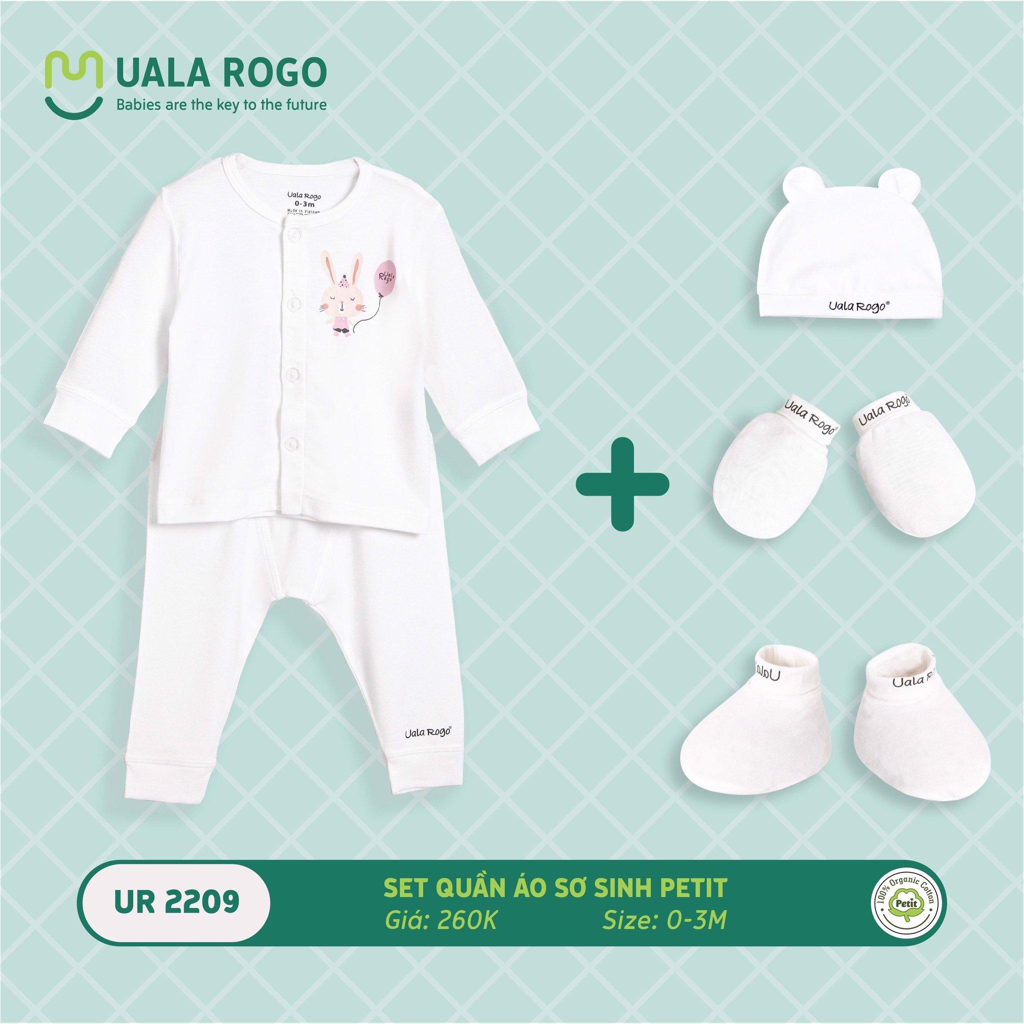 Set quần áo sơ sinh Petit Ualarogo